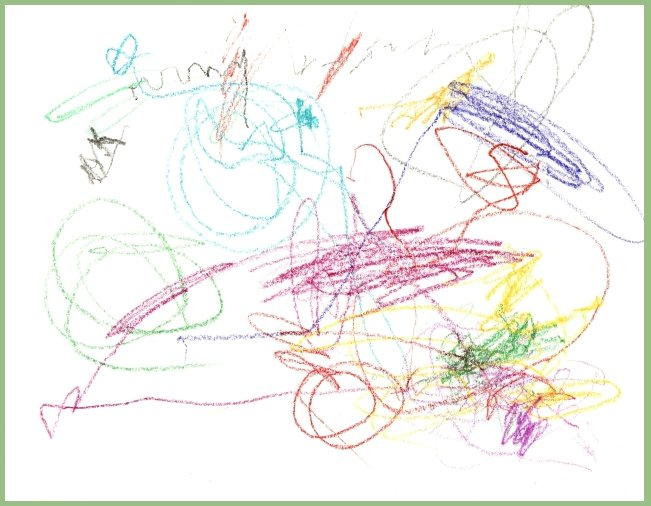 Amie's crayon drawing 20 months old - 27 april 2007