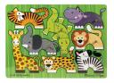 picture of Melissa and Doug Mix n Match Zoo peg puzzle