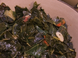 color photograph of collard, kale, zucchini (c) Katrien Vander Straeten