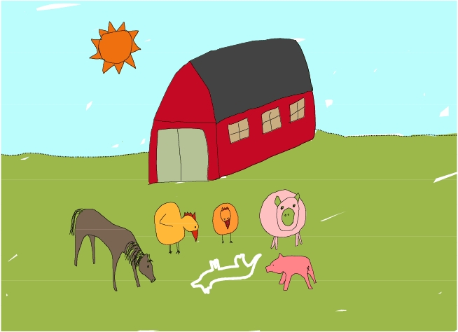 Barnyard Crime (c) Annie LaVigne (used with permission)