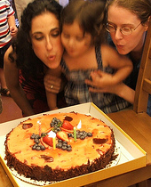 Amie, Laura and i blow out candles, 2008 (c) Katrien Vander Straeten
