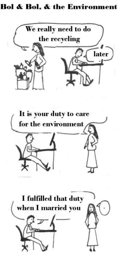 Comic Strip of Bol and Bol and the Environment