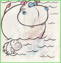 Amie's Drawing in Coloring Book, February 2007