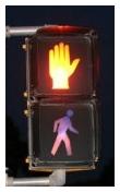 Photograph of American DON'T WALK traffic signal