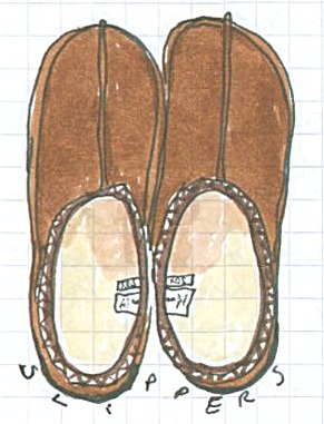 Slippers from the Puffin no 1 (c) Katrien Vander Straeten