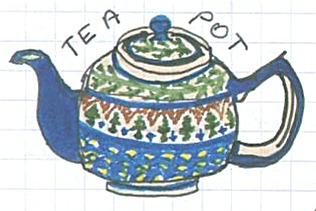Teapot from the Puffin no 1 (c) Katrien Vander Straeten