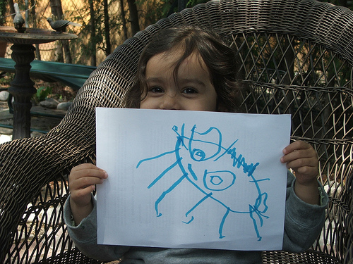 Amie's Drawing of a Ladybug, May 2008 (c) Katrien Vander Straeten