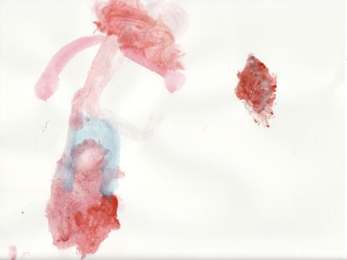 Amie's watercolor painting, 9 june 2008 (c) Katrien Vander Straeten