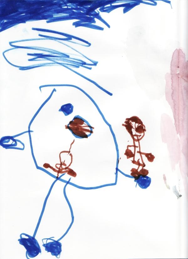 Amie's drawing of July 29, 2008 (c) Katrien Vander Straeten