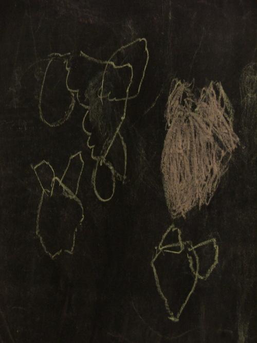 Amie's chalk drawing, august 2008 (c) Katrien Vander Straeten